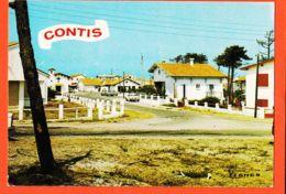 X40098 CONTIS (40) La Rue Menant à La CHAPELLE Visages Des LANDES 1975s à Dominique AYRAL Saint-Alban Aucamville - France