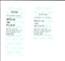 2 Tickets Récents. ACCESS. Stockholm (Suède).  Voir Description - Other