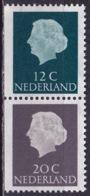 1968 Combinatie 12 Ent Groen + 20 Cent Grijs Links Ongetand Gewoon Papier Uit PB 7 NVPH C 47 Postfris - Carnets Et Roulettes