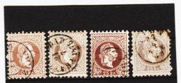 HSE297 ÖSTERREICH 1867 Michl 40 I Grober Druck 4 FARBEN Gestempelt SIEHE ABBILDUNG - 1850-1918 Empire