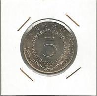 Gh7 Yugoslavia 5 Dinara 1978.  KM#58  High Grade - Yugoslavia