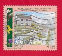 ITALIA REPUBBLICA USATO - 2015 - Parchi, Giardini Ed Orti Botanici D'Italia - Campo Imperatore - € 0,95 - S. 3608 - 6. 1946-.. Republic