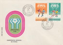 Enveloppe  FDC  1er  Jour   ROUMANIE    Coupe  Du   Monde  De  Football   1978 - 1978 – Argentine