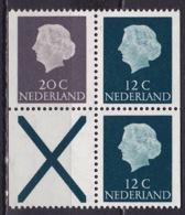 1968 Combinatie 20 Cent Grijs + 2 X 12 Cent Groen + Kruis Gewoon Papier Uit PB 7 NVPH C 48 Postfris - Carnets Et Roulettes