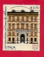 ITALIA REPUBBLICA USATO - 2014 - 200º Anniversario Arma Carabinieri - Facciata Caserma Bergia Torino - € 0,70 - S. 3494 - 6. 1946-.. Repubblica