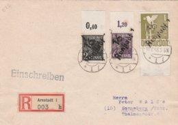Allemagne Zone Soviétique Lettre Recommandée Arnstadt 1948 - Zone Soviétique