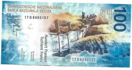 17D6903157 New Suisse 100 Francs UNC Banknote Billet Cent Francs Swiss Switzerland Schweiz - Switzerland
