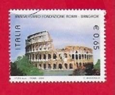 ITALIA REPUBBLICA USATO - 2004 - Anniversario Della Fondazione Di Roma E Bangkok - Colosseo - € 0,65 - S. 2759 - 6. 1946-.. Repubblica
