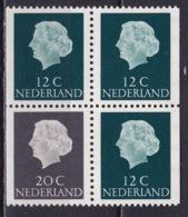 1968 Combinatie 20 Cent Grijs + 3 X 12 Cent Groen Gewoon Papier Uit PB 7 NVPH C 49 Postfris - Carnets Et Roulettes