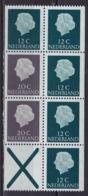 1968 Inhoud Uit PB 7 : 2 X 20 Cent Grijs + 5 X 12 Cent Groen + Kruis Gewoon Papier Postfris - Carnets Et Roulettes