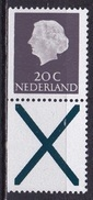 1968 Combinatie 20 Cent Grijs + Kruis Links Ongetand Fosforescerend Papier Uit PB 7 NVPH C 46 F Postfris - Carnets Et Roulettes