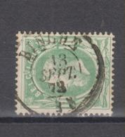 COB 30 Oblitération Centrale Double Cercle BINCHE +2 - 1869-1883 Léopold II