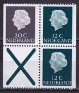 1968 Combinatie 20 Cent Grijs + 2 X 12 Cent Groen + Kruis Fosforescerend Papier Uit PB 7 NVPH C 48 F Postfris - Carnets Et Roulettes
