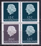 1968 Combinatie 20 Cent Grijs + 3 X 12 Cent Groen Fosforescerend Papier Uit PB 7 NVPH C 49 F Postfris - Carnets Et Roulettes