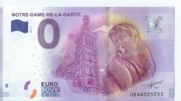2016  BILLET TOURISTIQUE 0 Euro  Notre-dame-de-la-garde   Dpt 13 Numero Aleatoire   Port 1.20 - EURO
