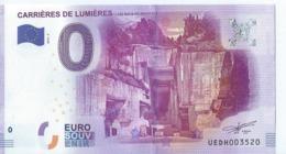 2016  BILLET TOURISTIQUE 0 Euro   Carrieres De Lumieres  Dpt 13 Numero Aleatoire   Port 1.30 - Essais Privés / Non-officiels