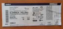 Football Ticket Slovenia : Poland  6.9.2019 Qualification EURO 2020 - Match Tickets
