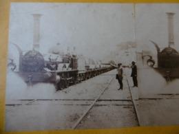 CHEMIN DE FER DU HAVRE LOCOMOTIVE PHOTO STEREO CIRCA 1860 - Stereoscopic