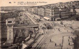 B58769 Cpa Alger - Boulevard De La République - Alger