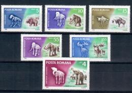 ROMANIA 1966 - FAUNA - ANIMALI PREISTORICI - SERIE COMPLETA - MNH ** - 1948-.... Repubbliche