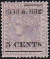 Ceylon     .    SG        .   187     .         (*)      .      No Gum   .   /   .   Geen Gom - Ceylon (...-1947)