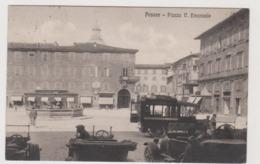Pesaro, Piazza V. Emanuele, Con Vettura SPA Del Servizio Automibilistico Cesanense - F.p. - Anni '1910-'1920 - Pesaro