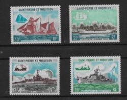1971 Saint Pierre Et Miquelon N° 410 à 413  Nf* . MLH . Bateaux . Assistance à La Grande Pêche. - Neufs