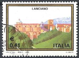 Italia, 2003 Veduta Di Lanciano, 0.41€ Multi # Sassone 2682 - Michel 2903 - Scott 2543  USATO - 6. 1946-.. Republic