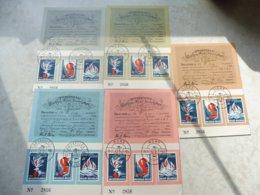 Timbre Belgique 5 Souvenirs 1964 Obliteration Différentes ( Numero 1290/92 ) Carte Numerotée - Cartes Souvenir