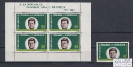 Kamerun Michel Cat.No. Mnh/** 420 + Sheet 3 Kennedy - Cameroon (1960-...)