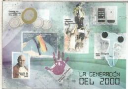 ENTERO POSTAL GENERACION 2000 CON MAT PRIMER DIA PAPA JUAN PABLO II EURO GAY IPHONE EXPO ZARAGOZA FU - Enteros Postales