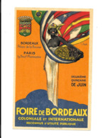 KB512 - CP NON CIRCULEE - FOIRE DE BORDEAUX - COLONIALE ET INTERNATIONALE - Fairs