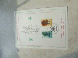 Timbre Belgique  Carte Souvenir La Nature 1970 - Souvenir Cards