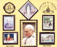 PHILATELIE - 5 Timbres Sur Charnière Sur LOURDES FRANCE Et LE PAPE JEAN PAUL 2 (Monaco, Irlande Et France) - Popes
