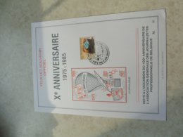 Timbre Belgique  Feuillet Souvenir Journalisme 1985 ( Oblitération Frameries ) - Souvenir Cards