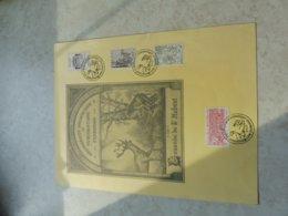 Timbre Belgique Grand Souvenir  '' Frameries '' 1977 Serie Historique 1856/59 La Chasse Illustrée - Souvenir Cards