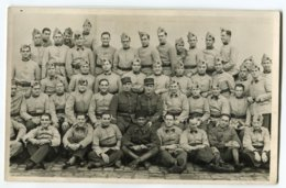 Carte Photo MILITAIRES ( Groupe ) - Regimenten