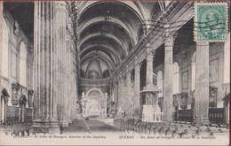 Canada Quebec Ste. Sainte Anne De Beaupré Interior Of The Basilica Interieur De Le Basilique 1908 Rare Old Postcard - Ste. Anne De Beaupré