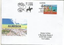 ALMERIA CC CON MAT PRIMER DIA ALMERIA 12 MESES 12 SELLOS FRUTA FRUIT CABALLO HORSE LANGOSTINO - 1931-Hoy: 2ª República - ... Juan Carlos I