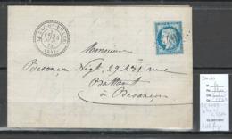 France -Lettre - GC4499 - Le Lac Ou VIllers - Doubs - Yvert 60 -1873 - Marcophilie (Lettres)