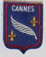 écusson Ancien Blason Brodé Cannes Armoiries - Ecussons Tissu