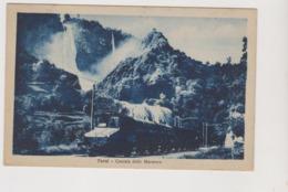 Terni (TR), Passaggio Del Treno Accanto Alla Cascata Delle Marmore  - F.p.- Anni '1920 - Terni
