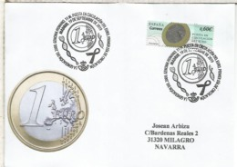 MADRID CC CON MAT PRIMER DIA GENERACION 2000 EURO COIN MONEDA NUMISMATICA - Monedas