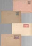 GUADELOUPE  : 4  Entiers Postaux  : 4 Carte Lettre  : Neuf - Lettres & Documents
