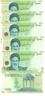 Iran - 5 Pcs X 10000 Rials 2017 AUNC P. 159 New Sign. Lemberg-Zp - Iran