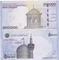 Iran - 500000 Rials 2014 - 2015 UNC Cheque Blue - Pick 154 Lemberg-Zp - Iran