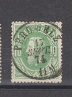 COB 30 Oblitération Centrale Double Cercle PERUWELZ +4 - 1869-1883 Léopold II