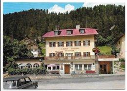 """Santa Cristina (Bolzano). Hotel Pensione """"Sasslong"""". Insegna Luminosa Birra Forst Sul Balcone A Sinistra. - Bolzano"""