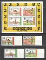 B594 TANZANIA SPORTS OLYMPIC GAMES LOS ANGELES 1984 #242-5 !!! MICHEL 10.5 EURO !!! 1KB+1SET MNH - Estate 1984: Los Angeles
