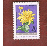 NORTH VIETNAM - SG N211  -     1962 FLOWERS: CHRYSANTHEMUM          -  USED - Vietnam